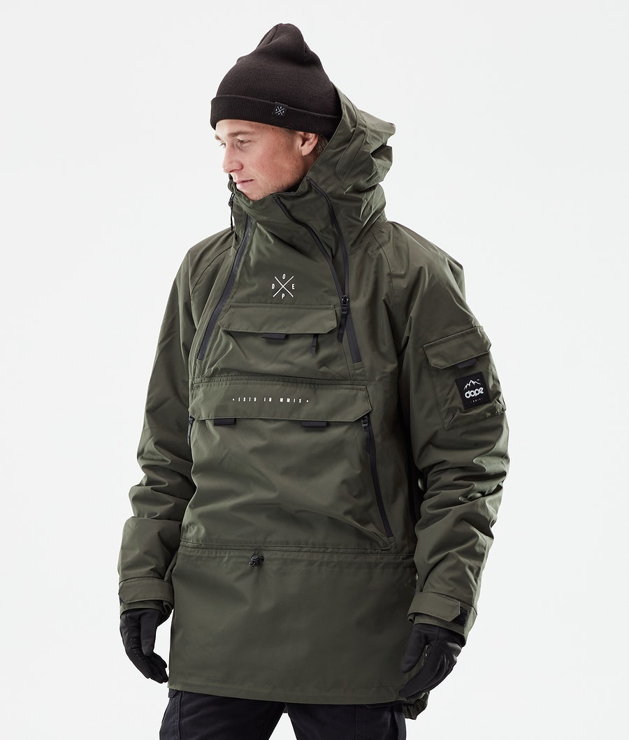 Dope Akin Winter Jacket Olive Green