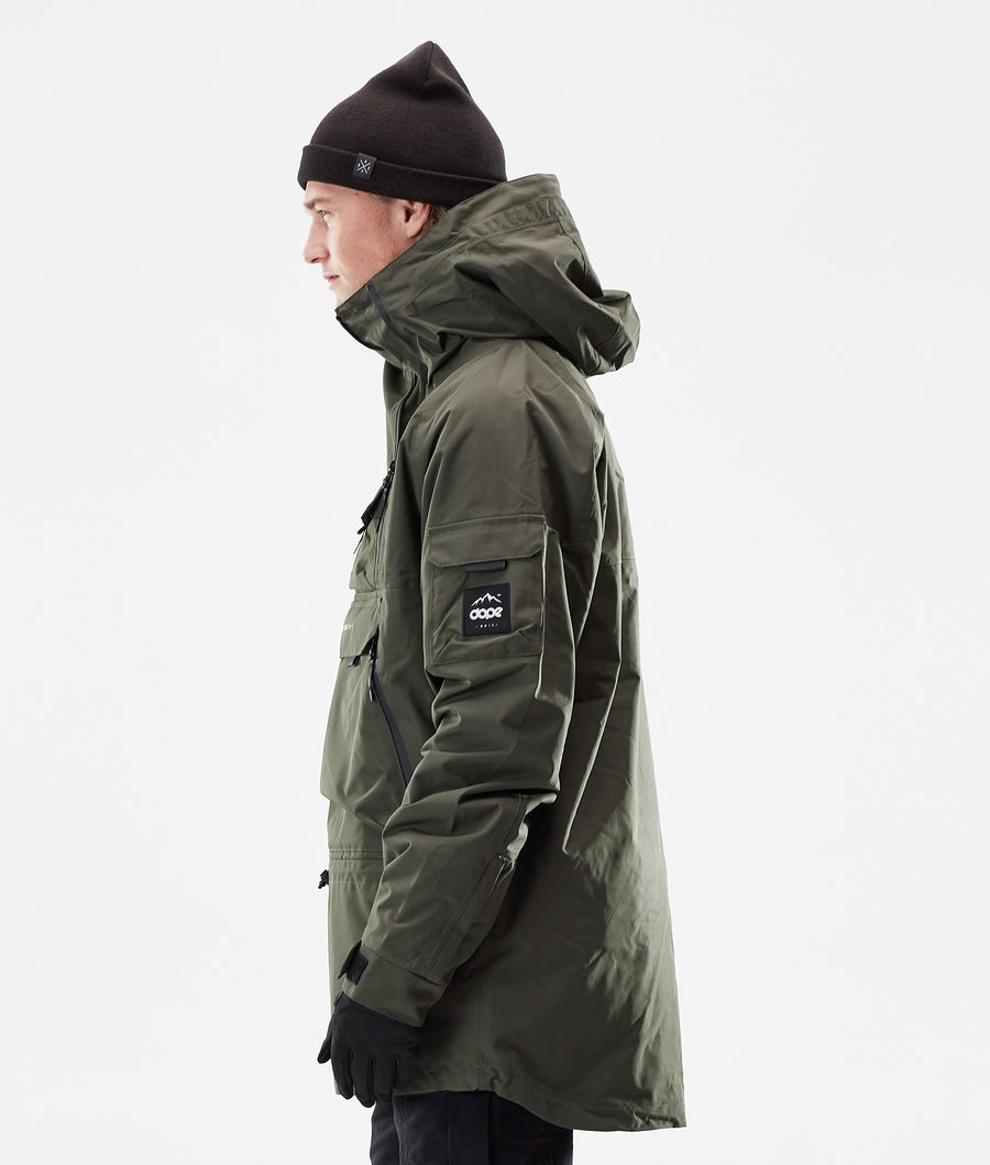Dope Akin Winter Jacket Olive Green