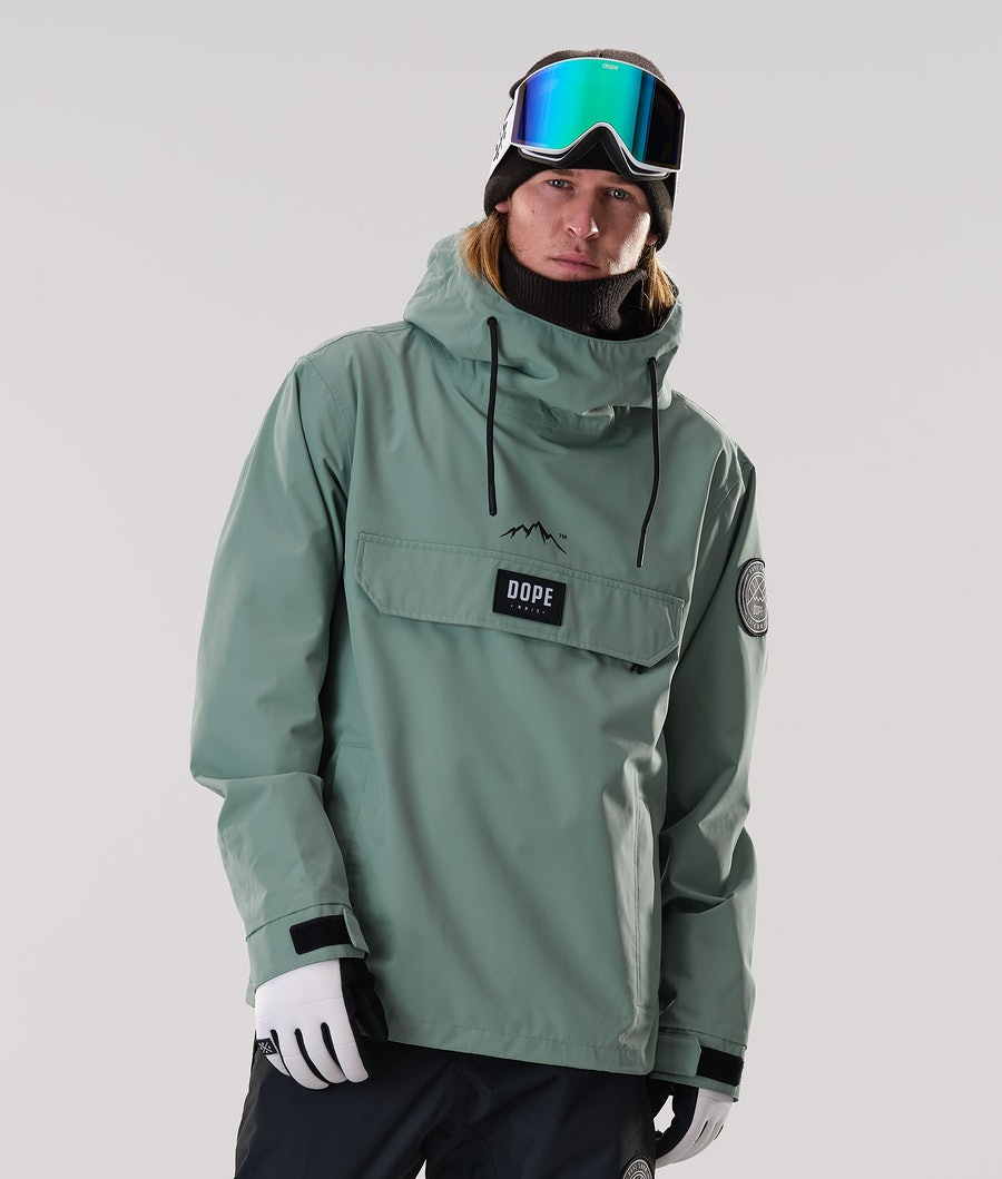 Dope Blizzard PO Ski Jacket Faded Green