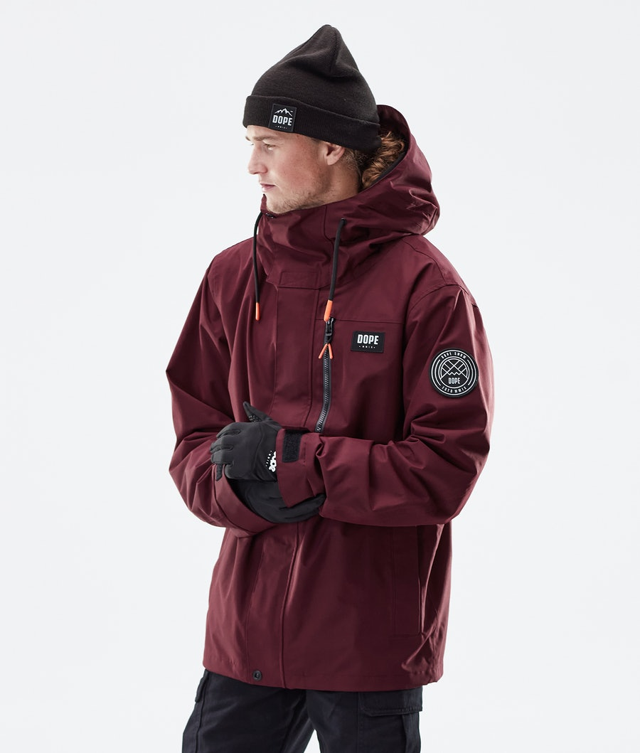Dope Blizzard FZ Winter Jacket Burgundy