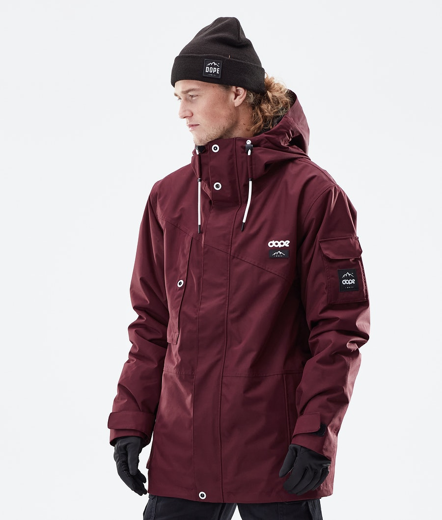 Dope Adept Winter Jacket Burgundy