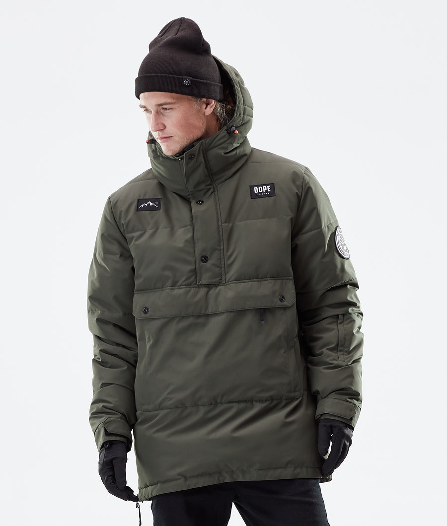 Dope Puffer Winterjas Olive Green