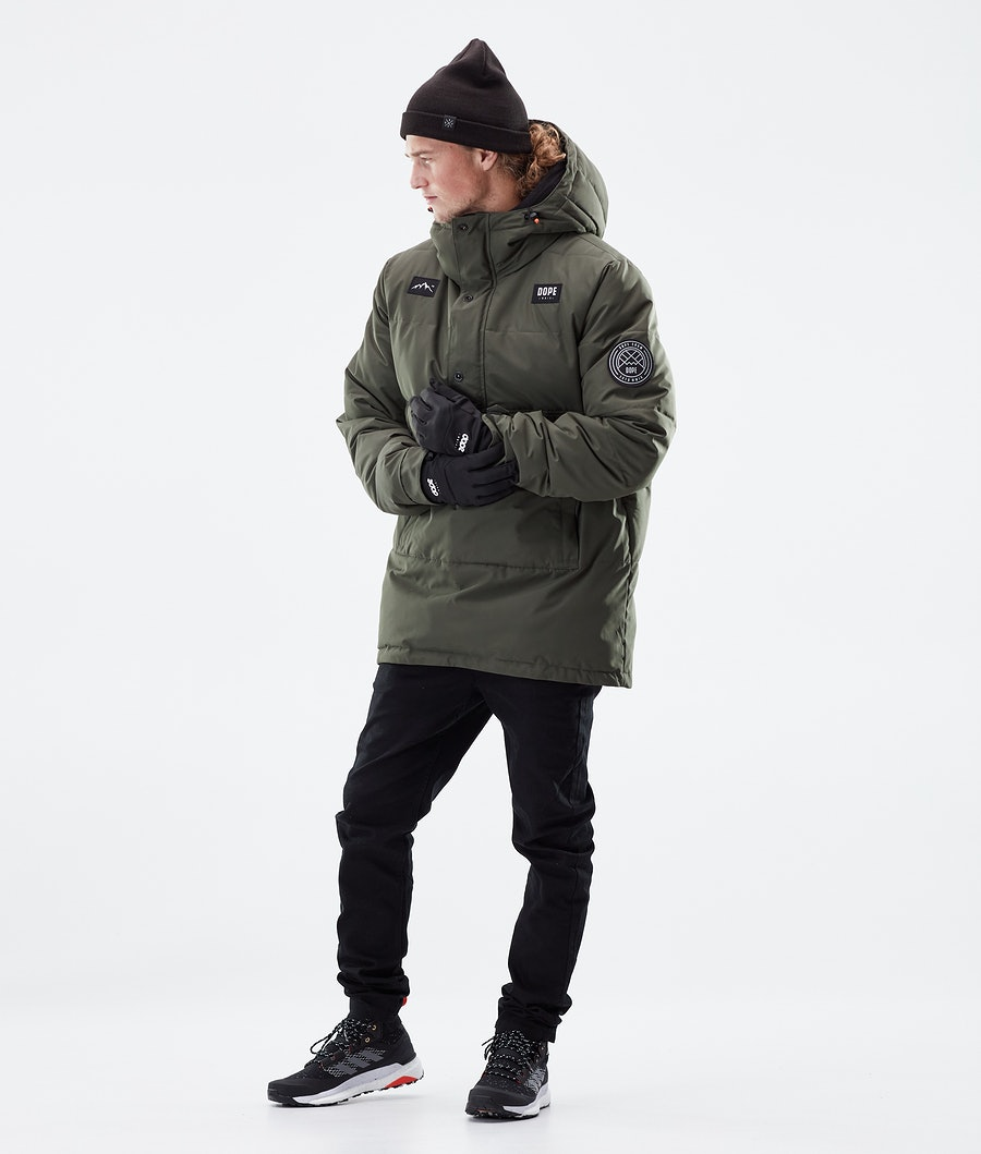Dope Puffer Winter Jacket Olive Green