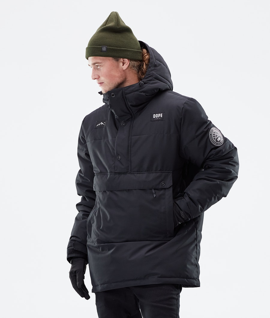 Dope Puffer Winter Jacket Black