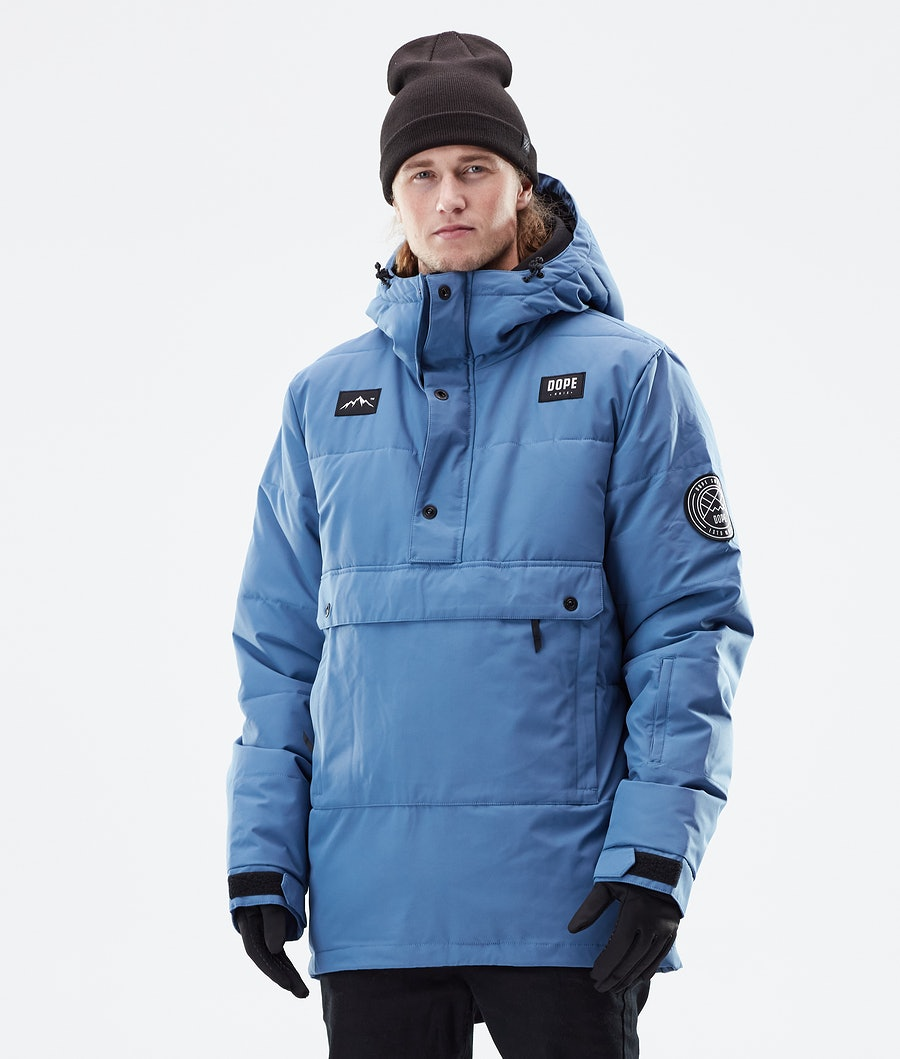 Dope Puffer Winter Jacket Blue Steel