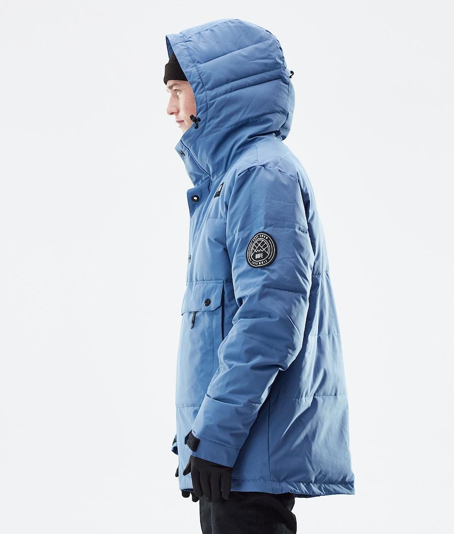 Dope Puffer Winter Jacket Blue Steel