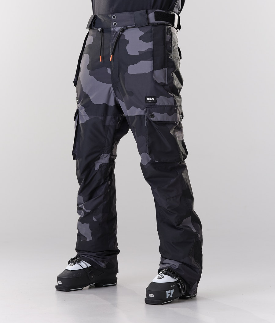 Dope Iconic Ski Pants Black Camo