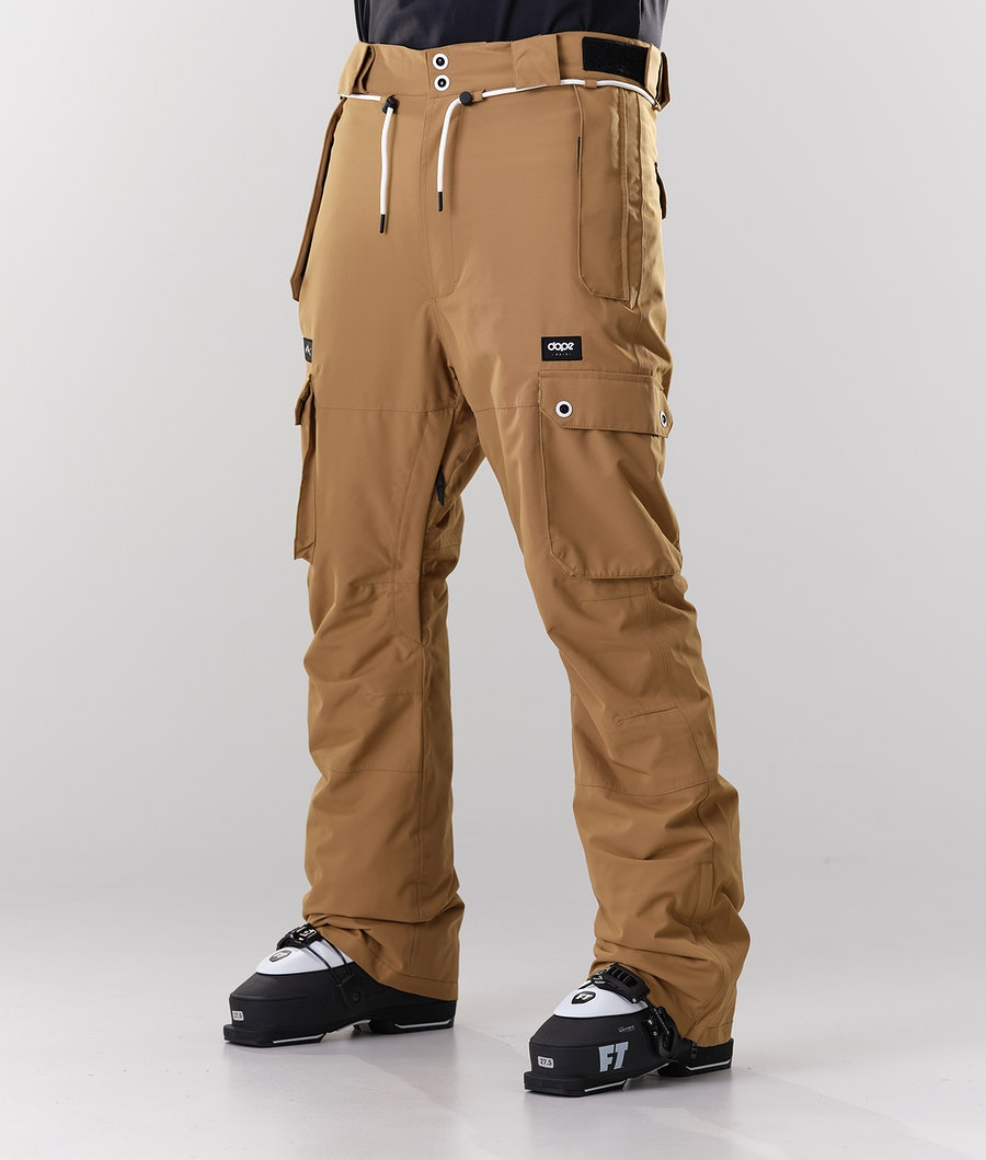 Dope Iconic Ski Pants Gold