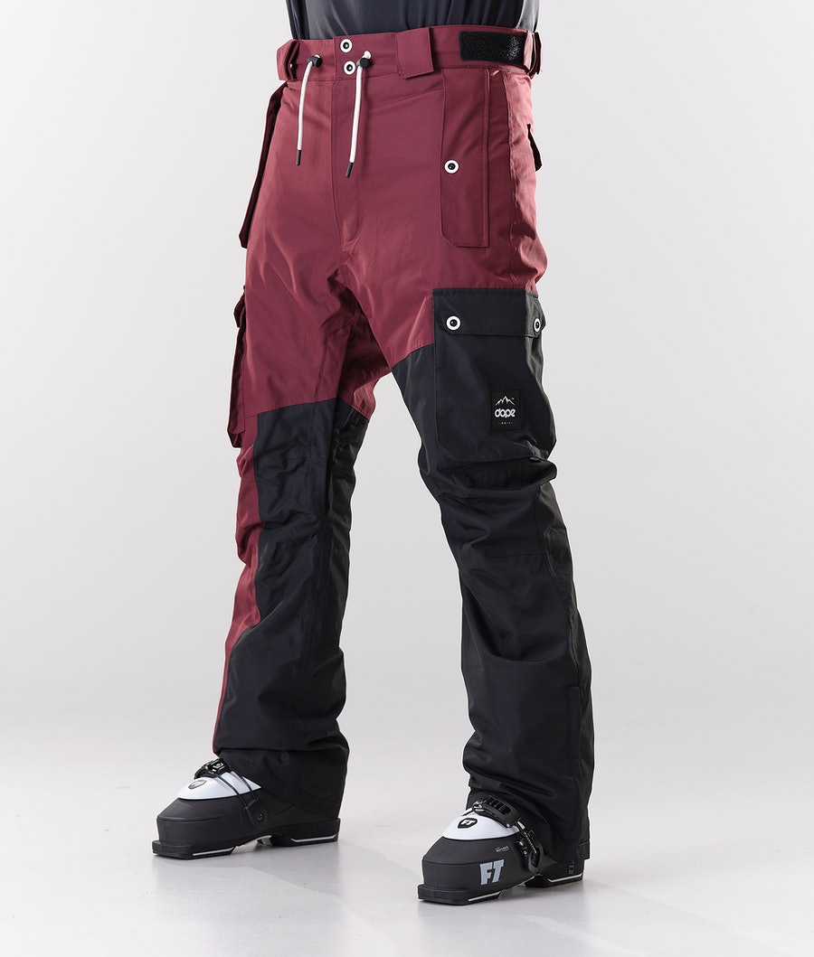 Dope Adept Ski Pants Burgundy/Black