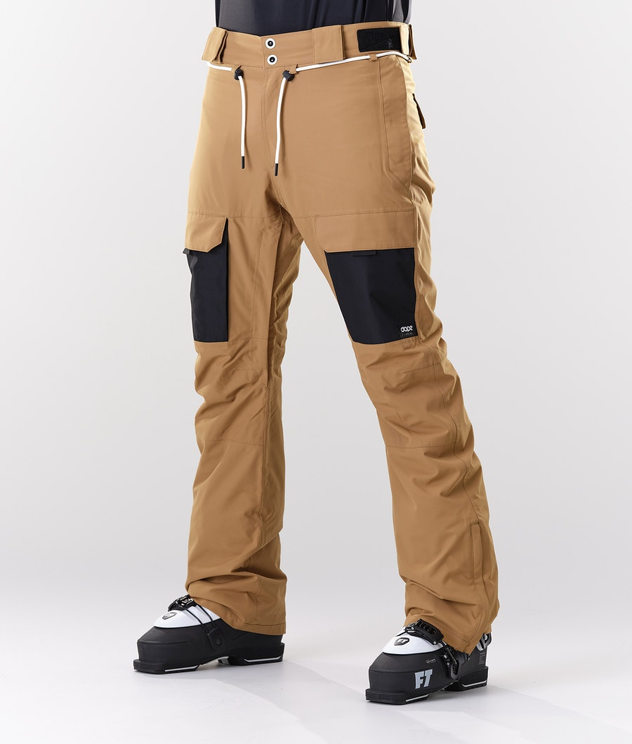 Dope Poise Ski Pants Gold/Black