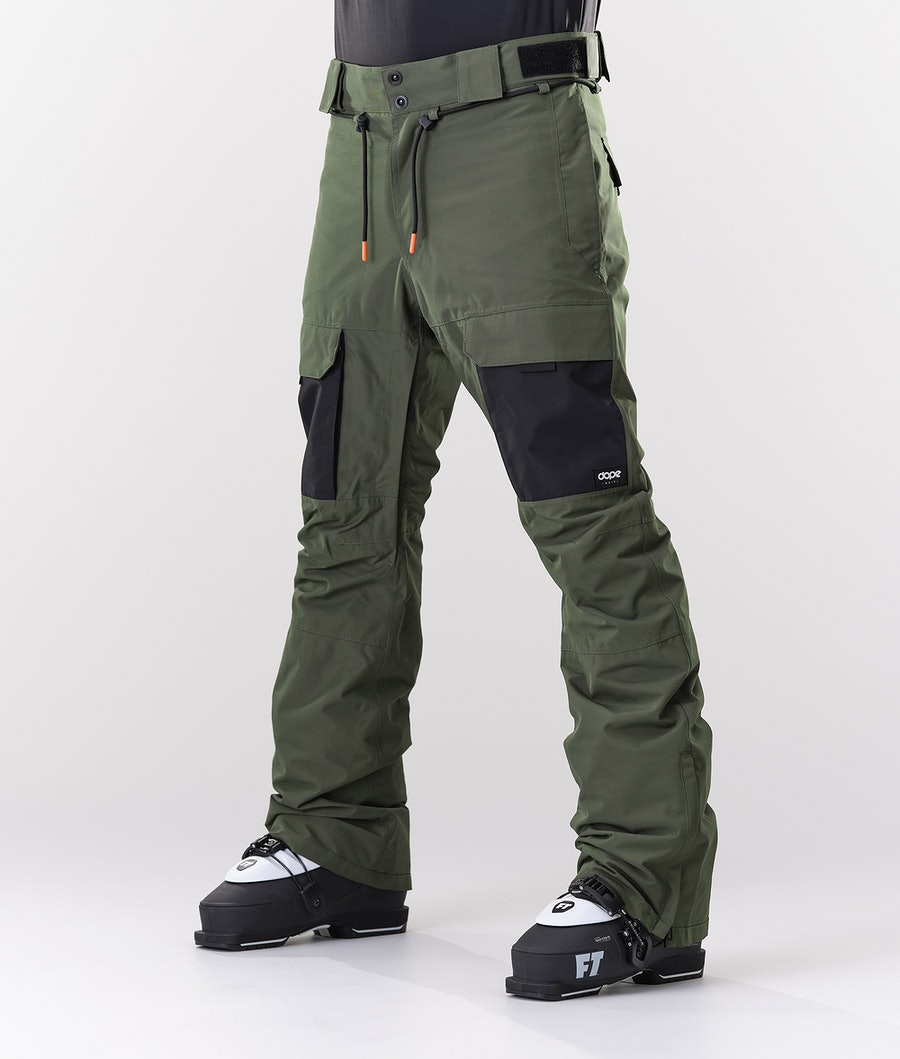 Dope Poise Ski Pants Olive Green/Black