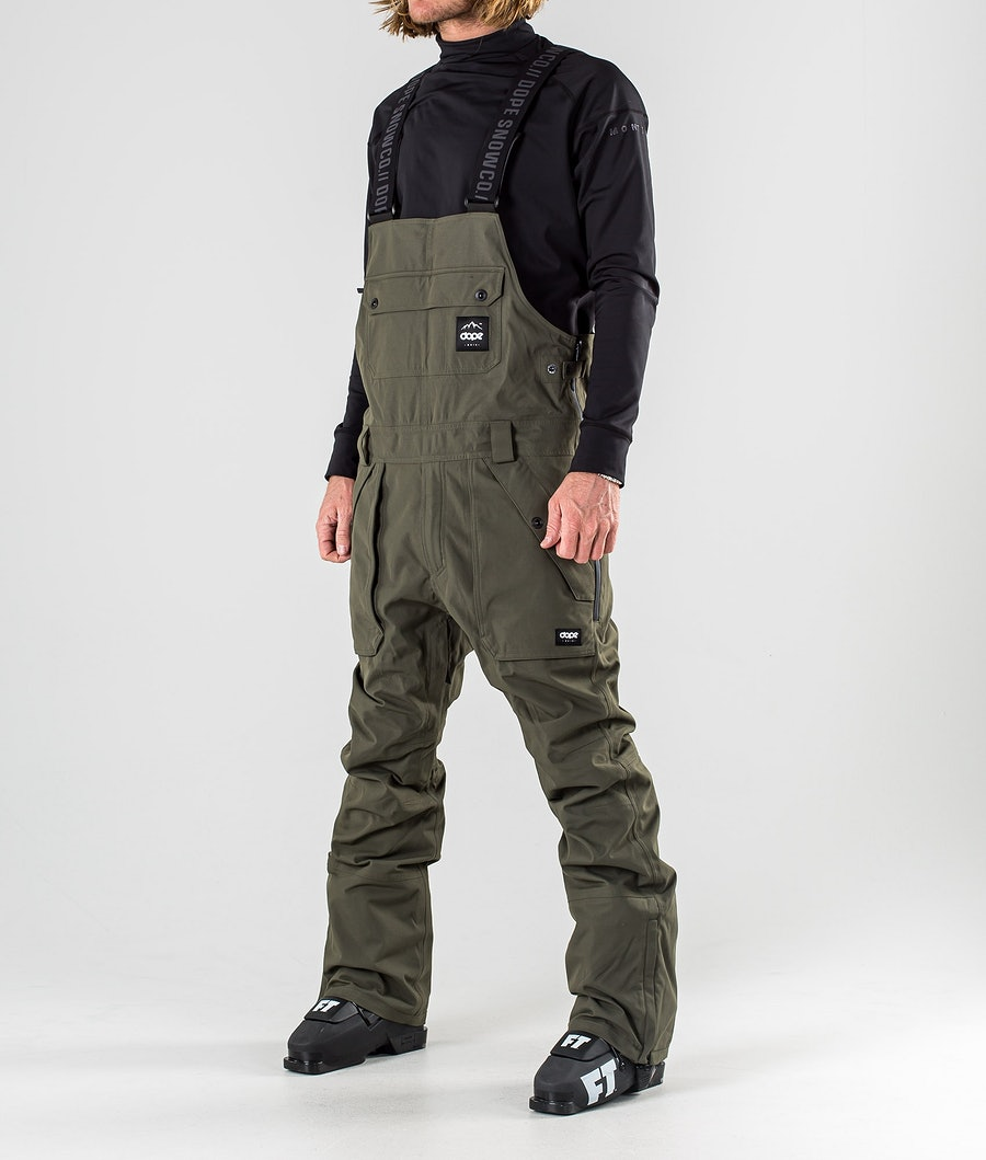 Dope Notorious B.I.B Ski Pants Olive Green