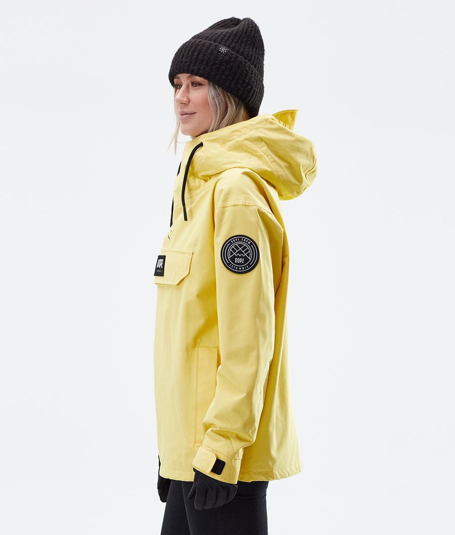 Dope Blizzard PO W Women's Outdoor Jacket Faded Yellow