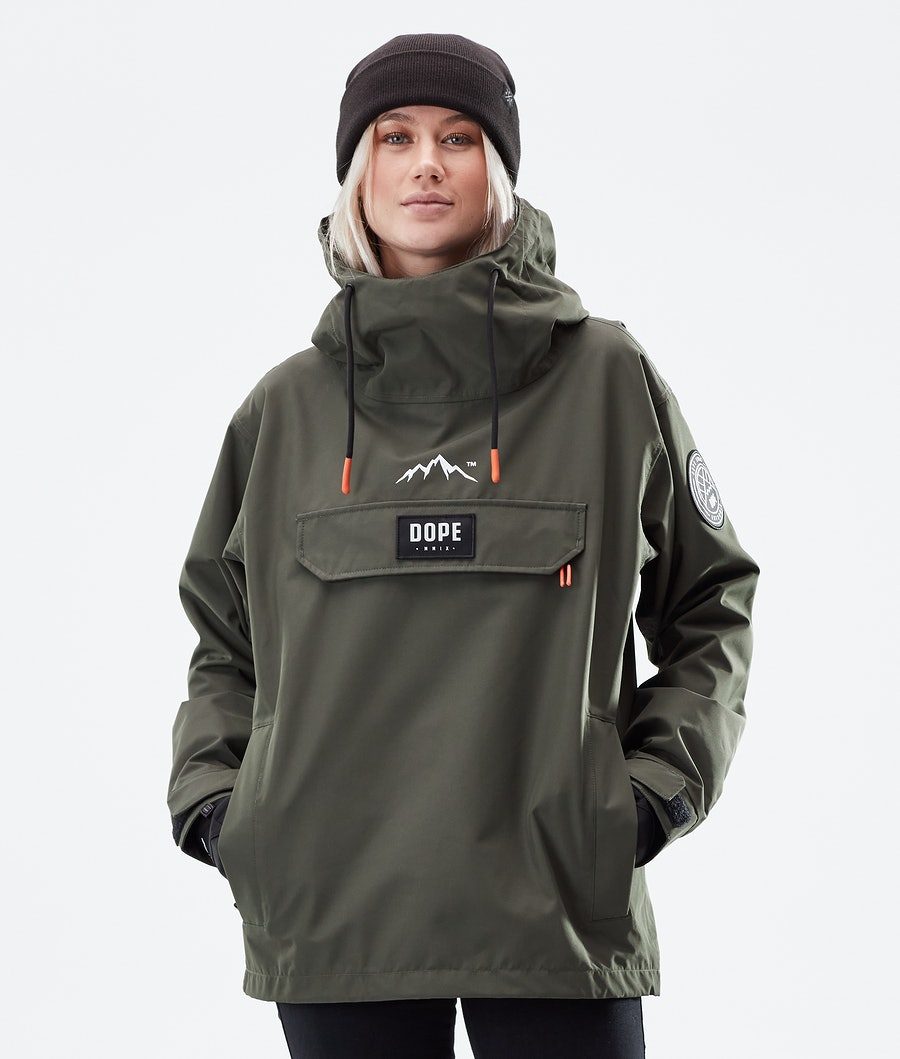 Dope Blizzard PO W Winter Jacket Olive Green