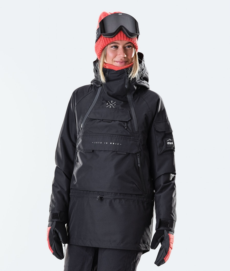 Dope Akin W Renewed Snowboardjacka Black
