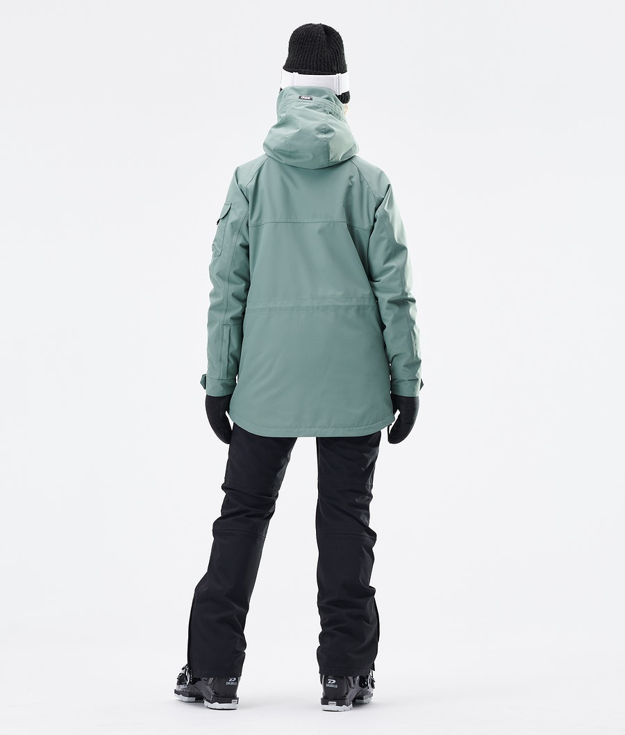 Dope Akin W Veste de Ski Femme Faded Green