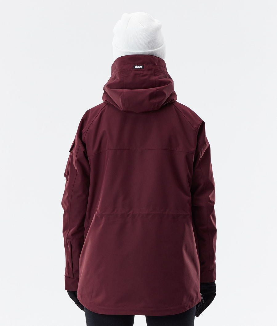 Dope Akin W Women's Winter Jacket Burgundy