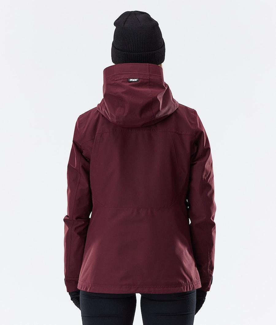 Dope Divine Women's Winter Jacket Burgundy