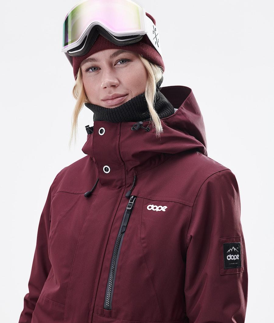 Dope Divine Women's Ski Jacket Burgundy
