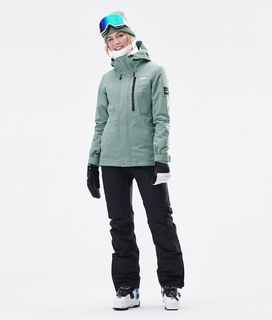Dope Divine Veste de Ski Femme Faded Green