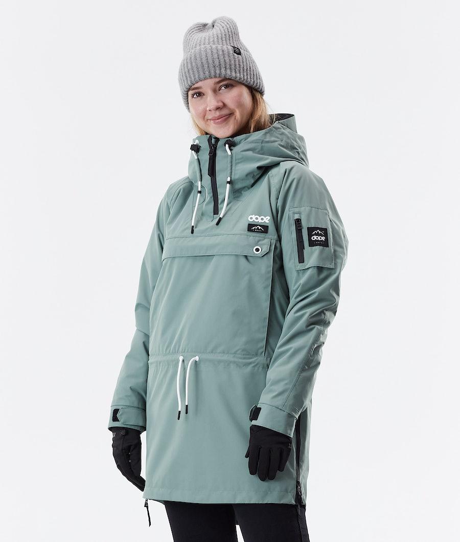 Dope Annok Long Winter Jacket Faded Green