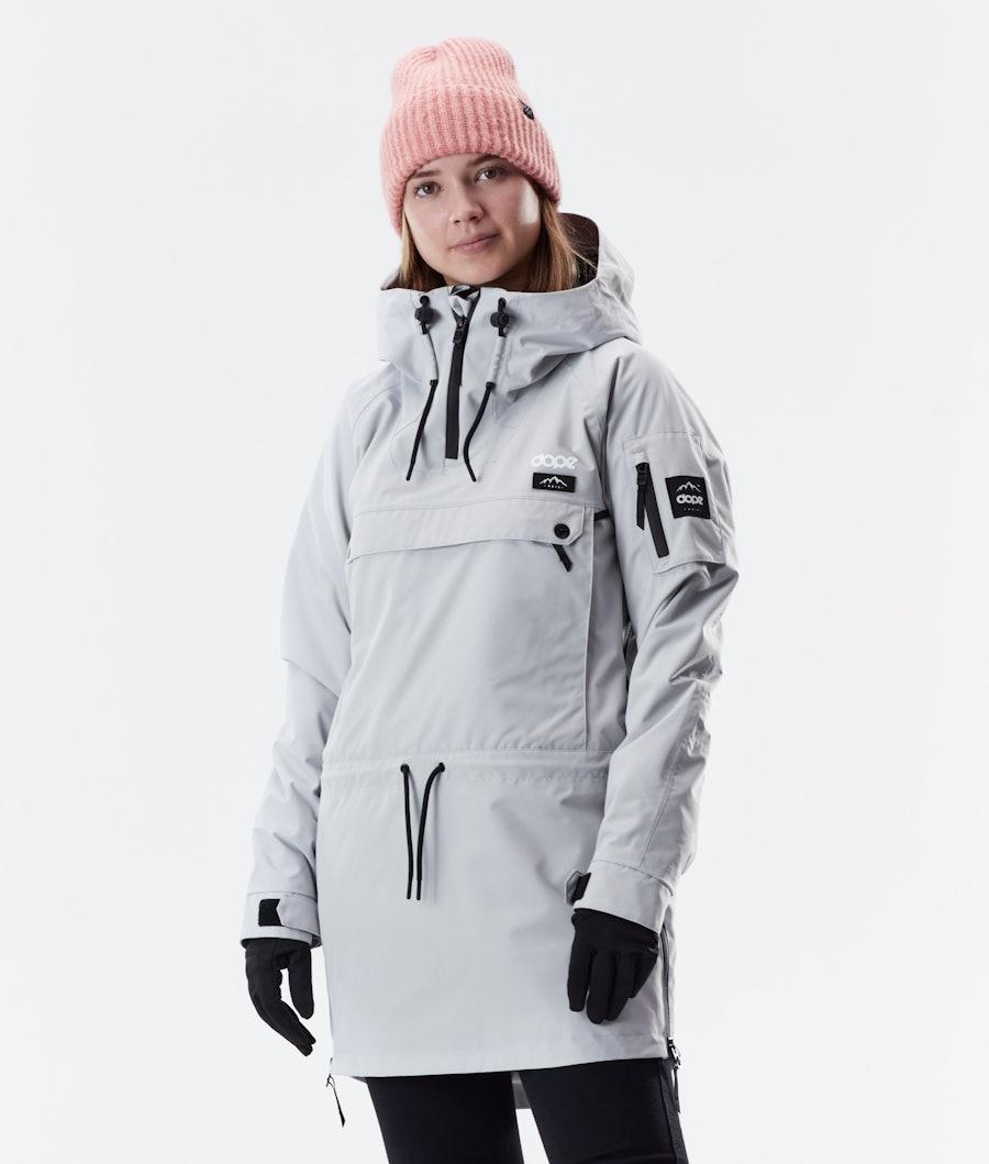 Dope Annok Long Winter Jacket Light Grey
