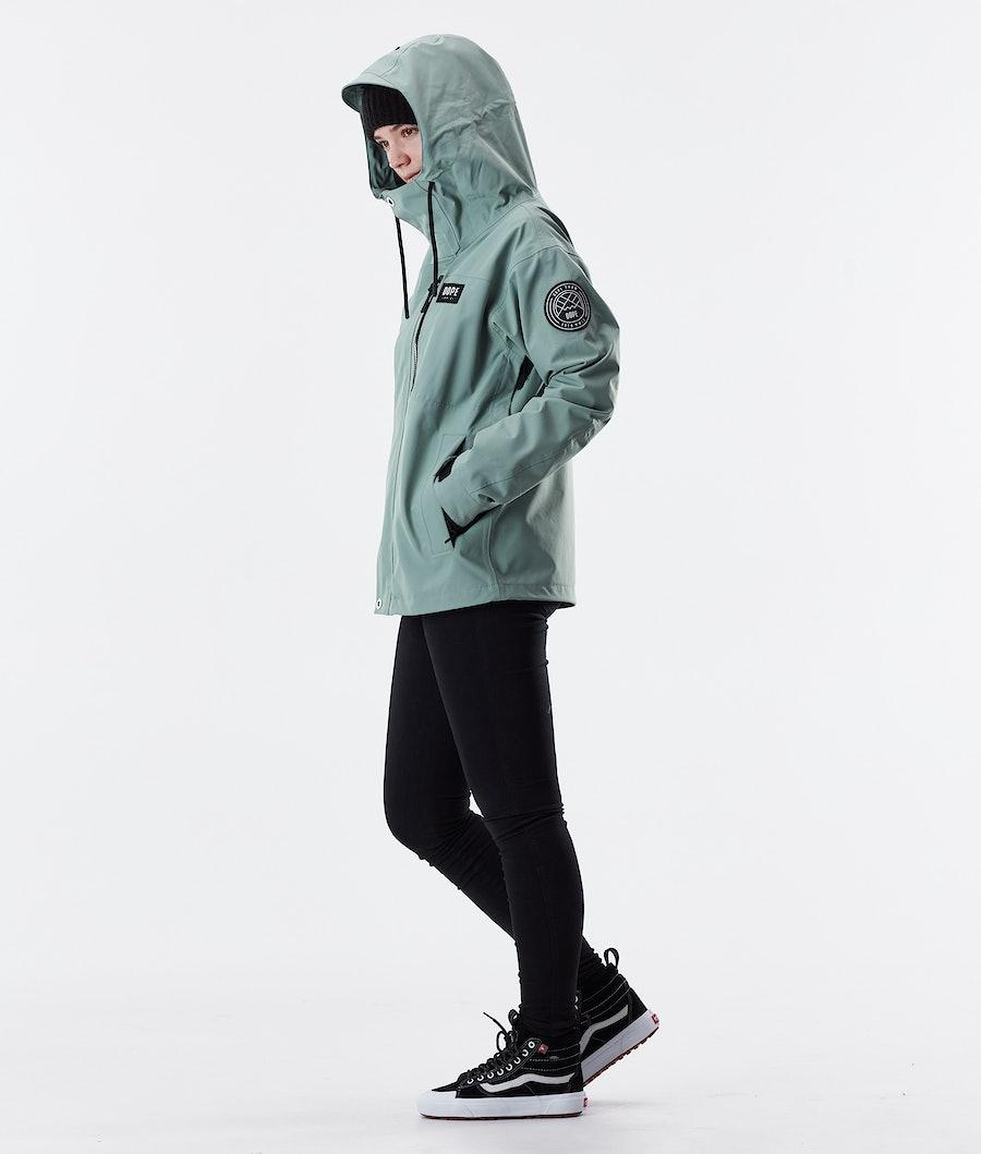 Dope Blizzard FZ W Women's Outdoor Jacket Faded Green