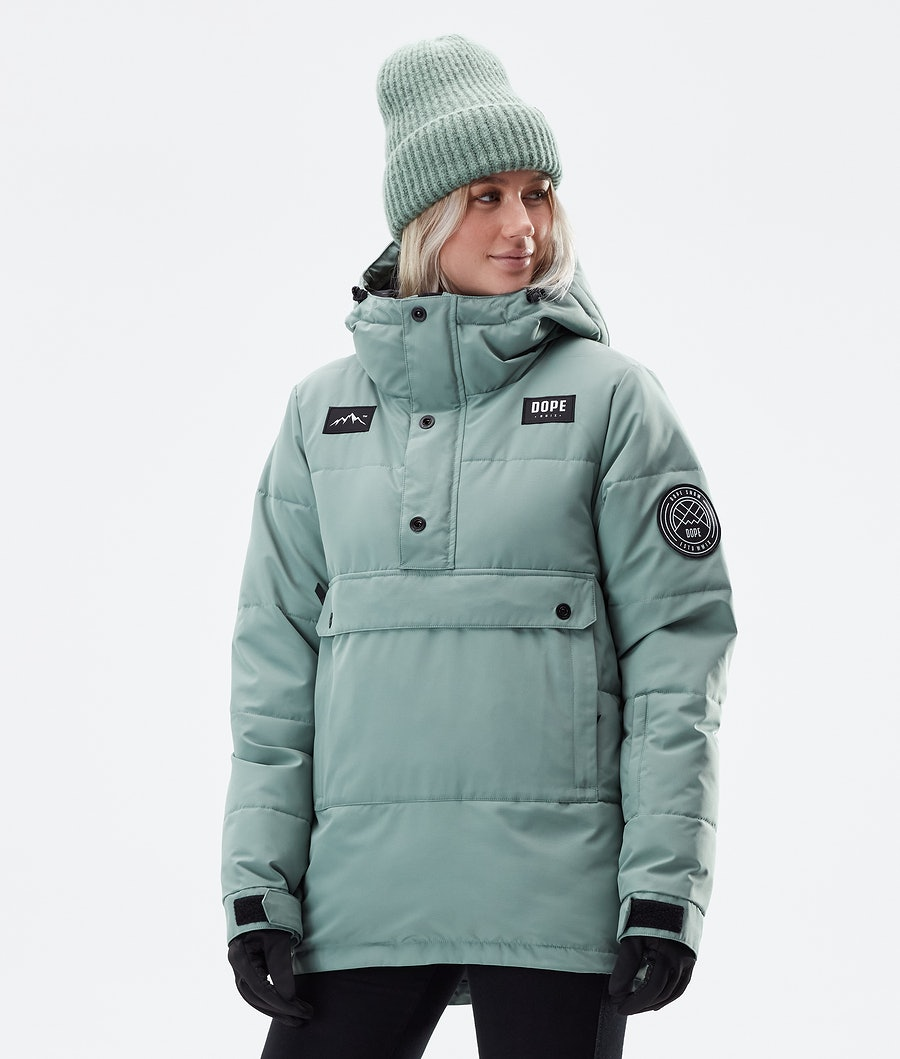 Dope Puffer W Winterjacke Faded Green