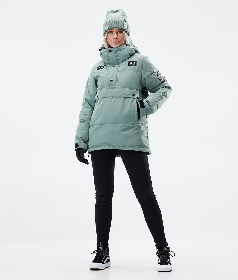 Dope Puffer W Veste D' hiver Femme Faded Green