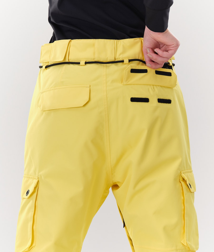 Dope Iconic W Pantalon de Ski Femme Faded Yellow