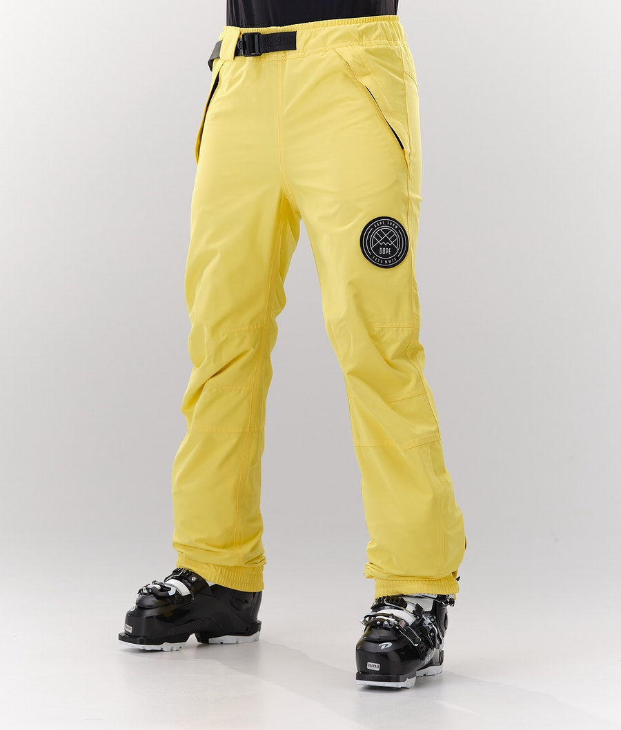 Dope Blizzard W Pantaloni da Sci Faded Yellow