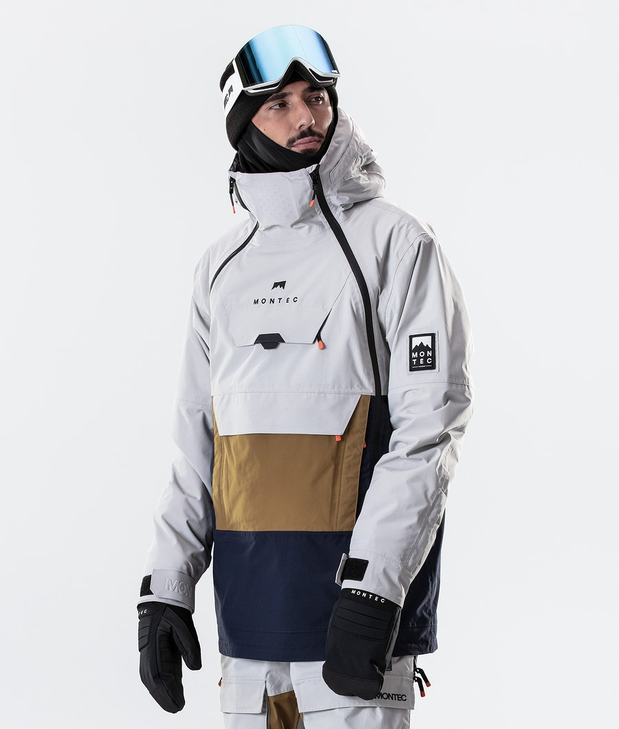 Montec Doom Ski Jacket Light Grey/Gold/Marine