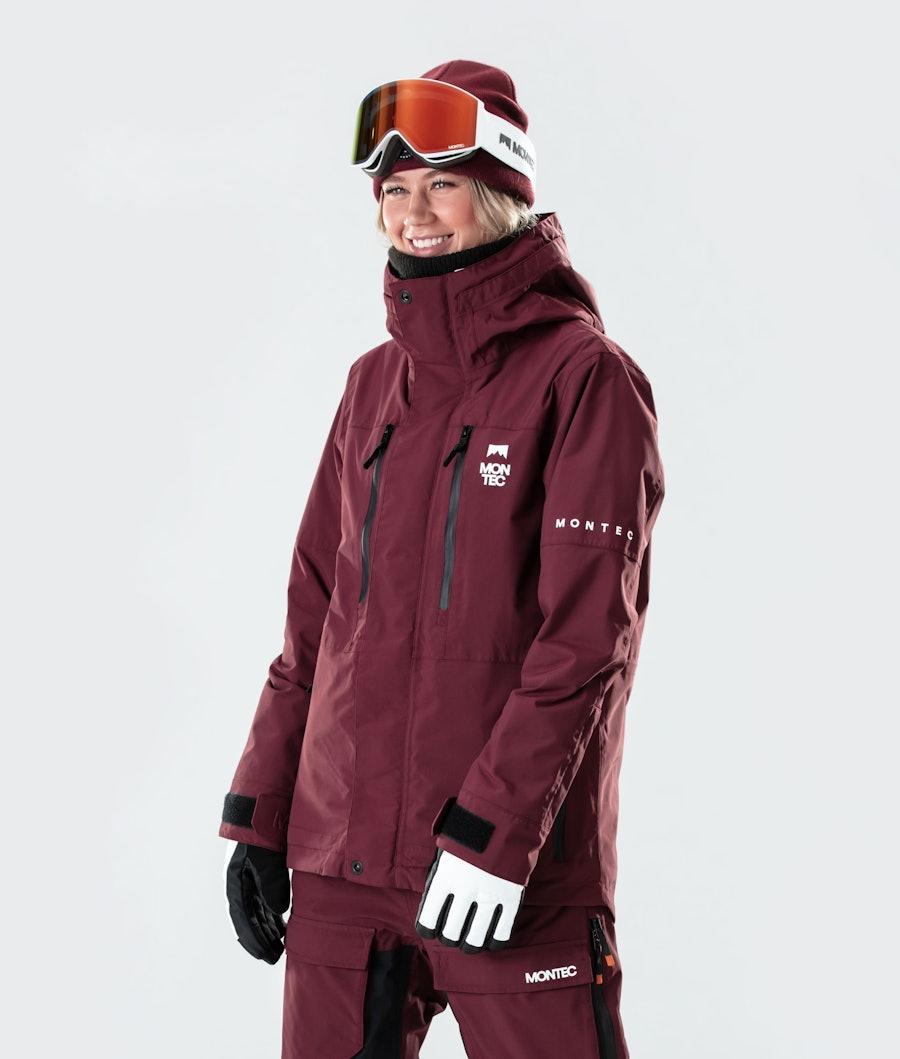 Montec Fawk W Ski Jacket Burgundy