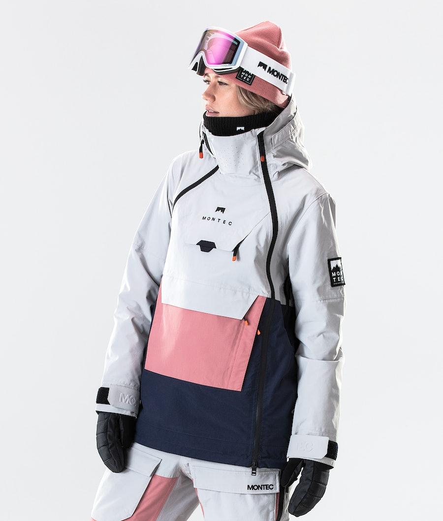 Doom W Ski Jacket Women Light Grey/Pink/Marine