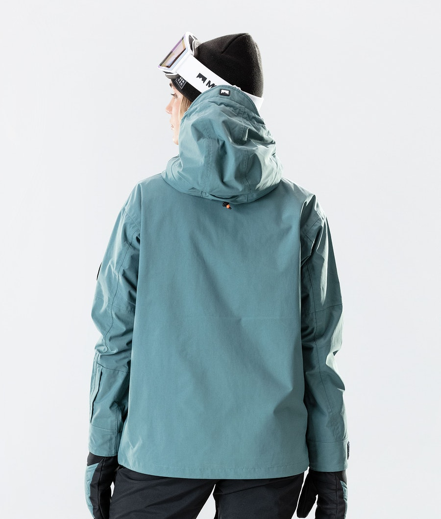 Montec Typhoon W Women's Ski Jacket Atlantic/Black