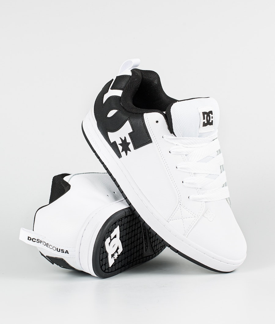 DC Court Graffik Skor White/Black/Black