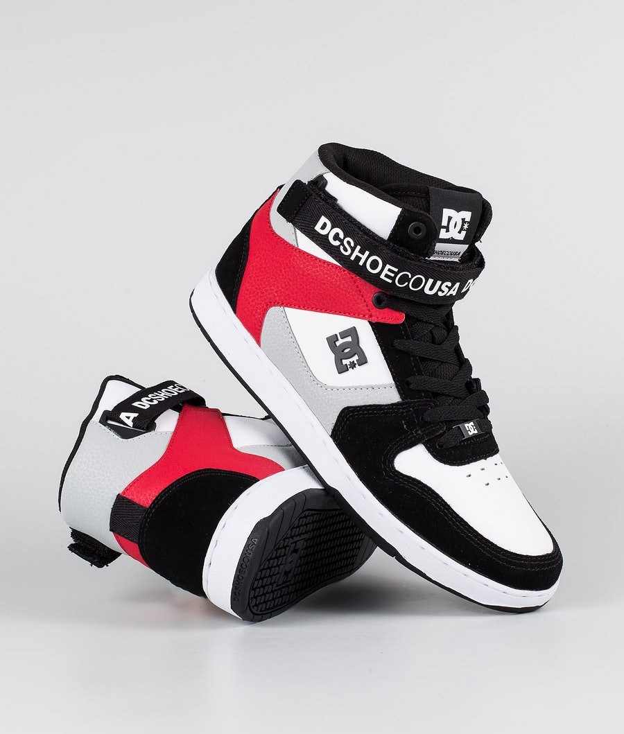 DC Pensford Shoes Black/Grey/Red