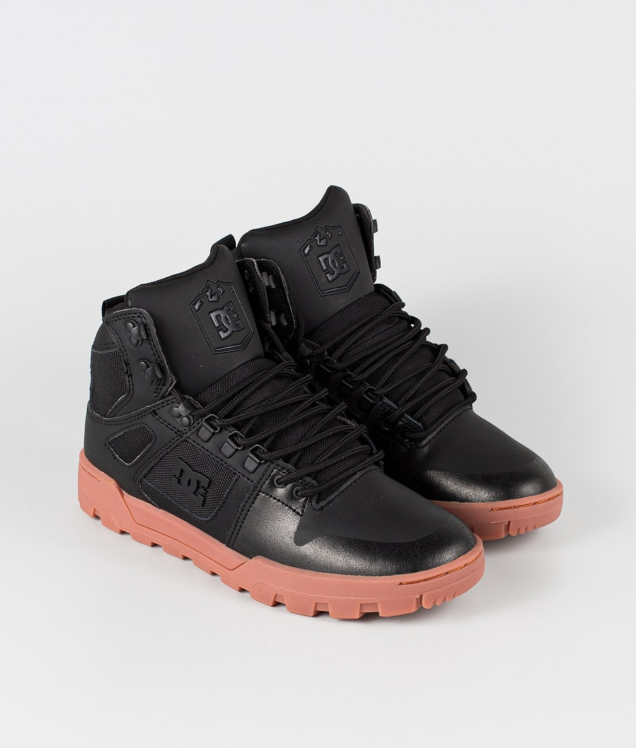 DC Pure High-Top Wr Boot Schuhe Black/Gum