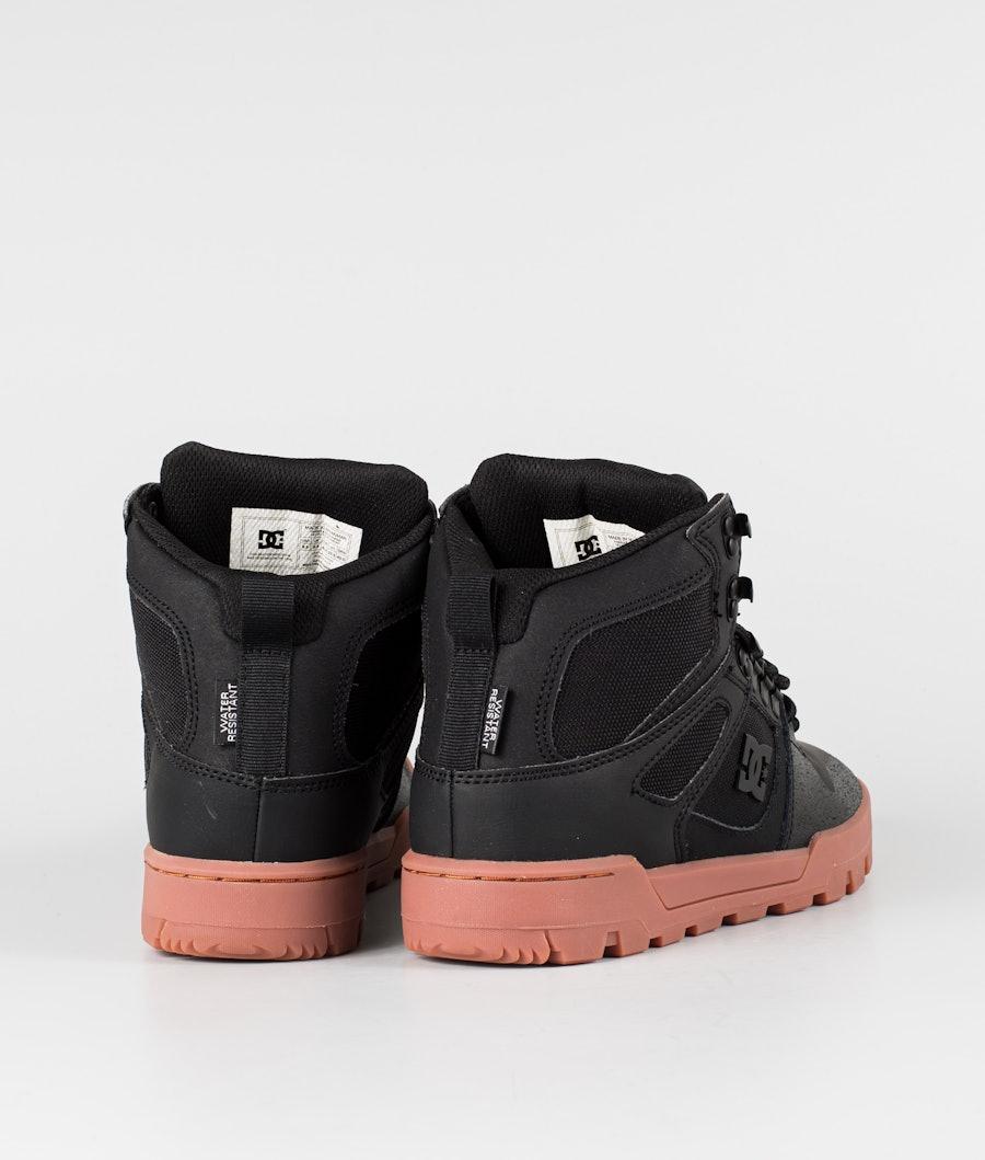DC Pure High-Top Wr Boot Schuhe Black/Gum