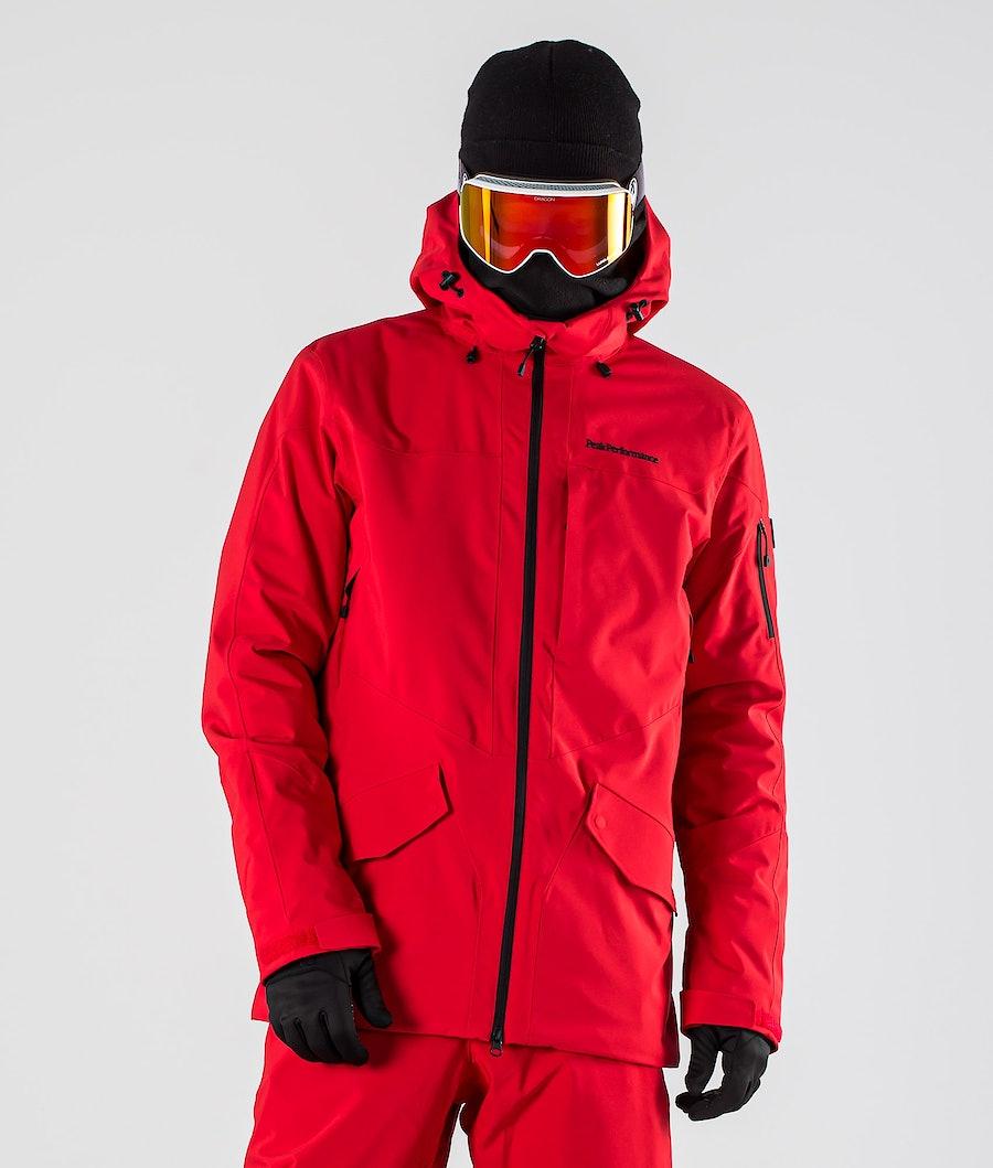 Peak Performance Maroon Long Ski Jacket The Alpine