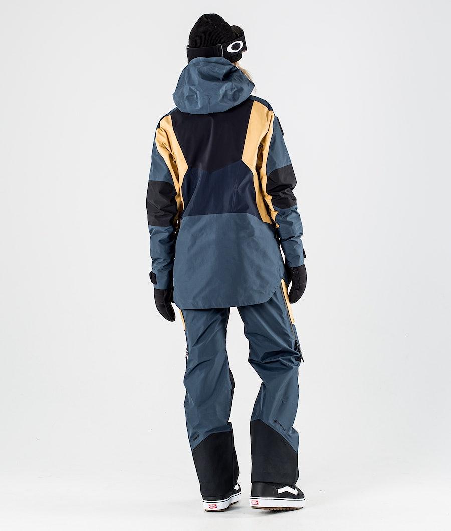 Peak Performance Vertical Pro Giacca da Snowboard Donna Blue Steel