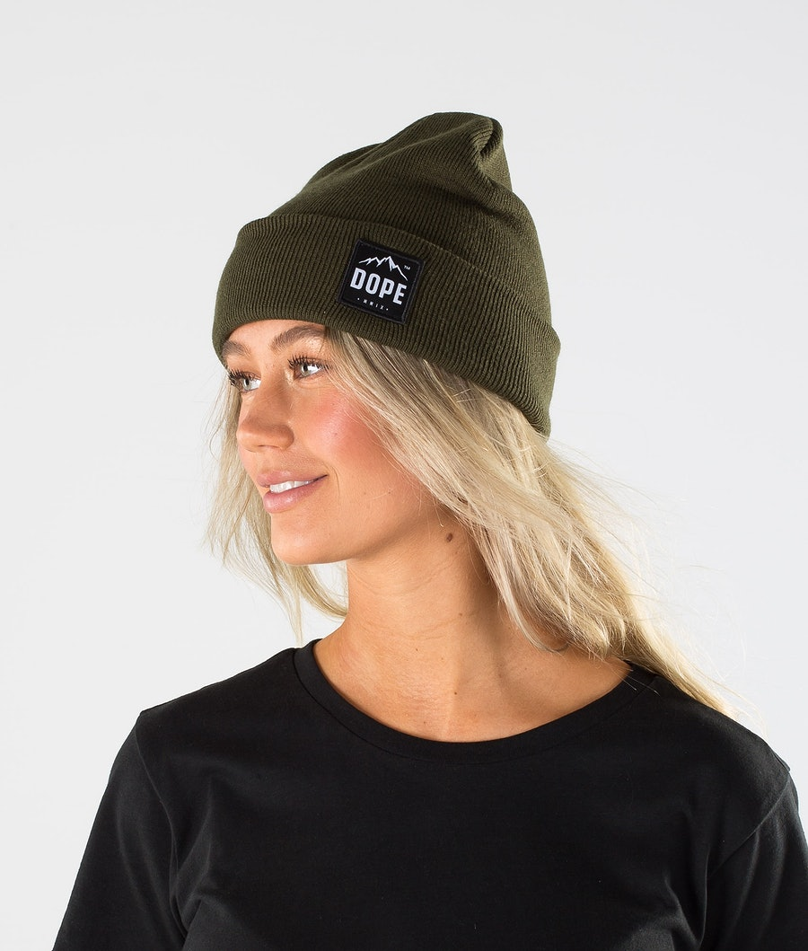 Dope Paradise Beanie Olive Green