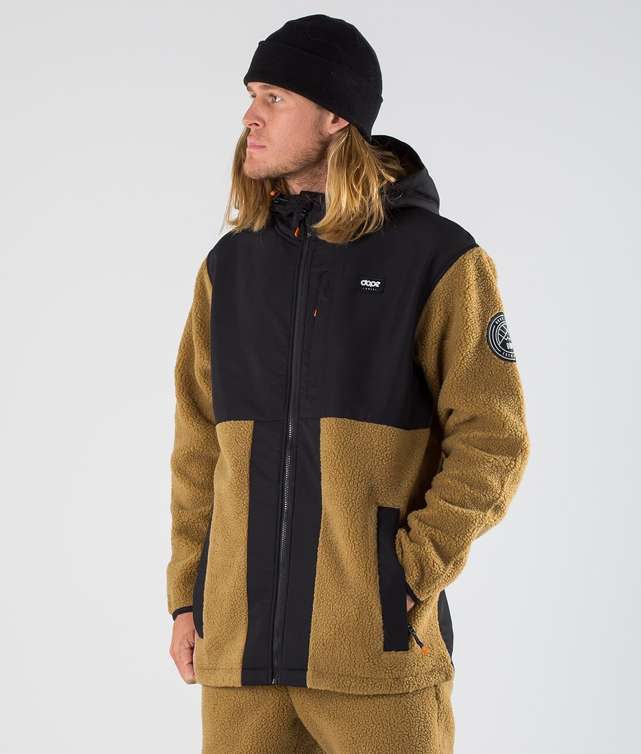 Dope Ollie Fleece Hood Black/Gold