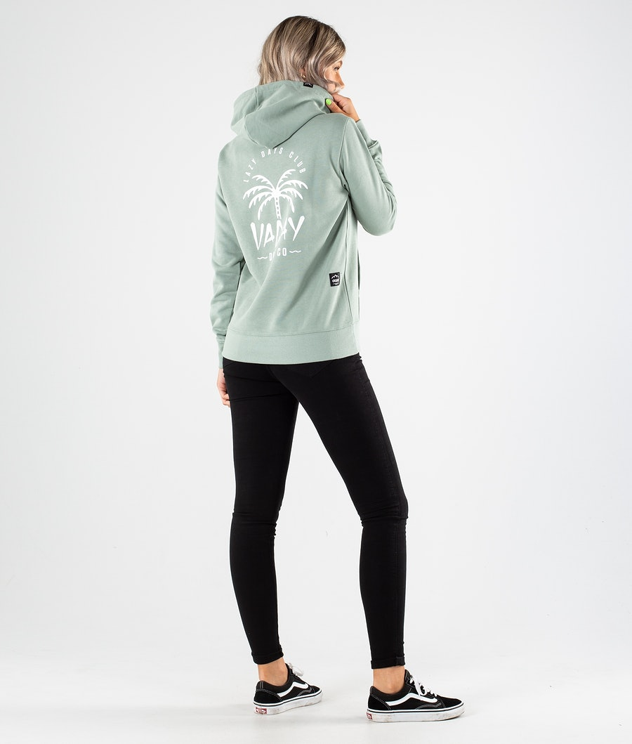 Dope Copain Palm Hoodie Damen Faded Green