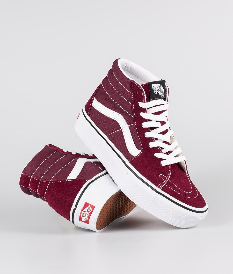 Vans SK8-Hi Platform 2.0 Chaussures Burgundy/True White