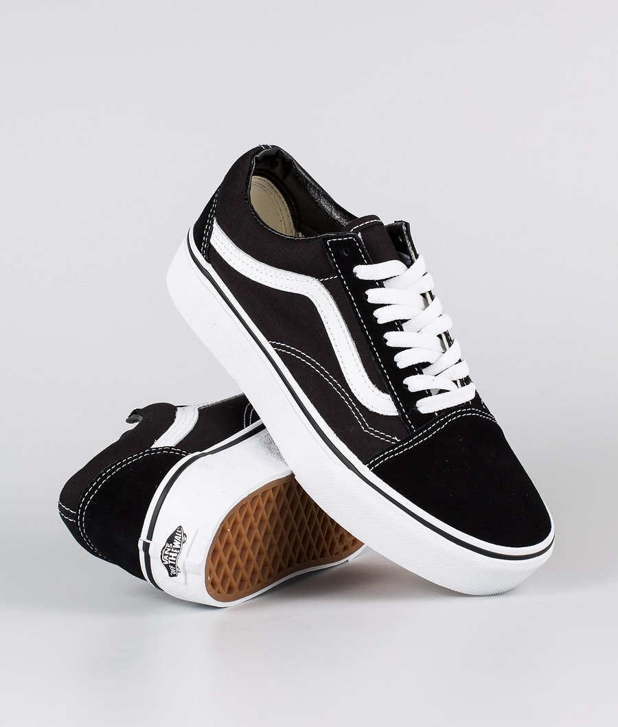 Vans Old Skool Platform Sko Black/White