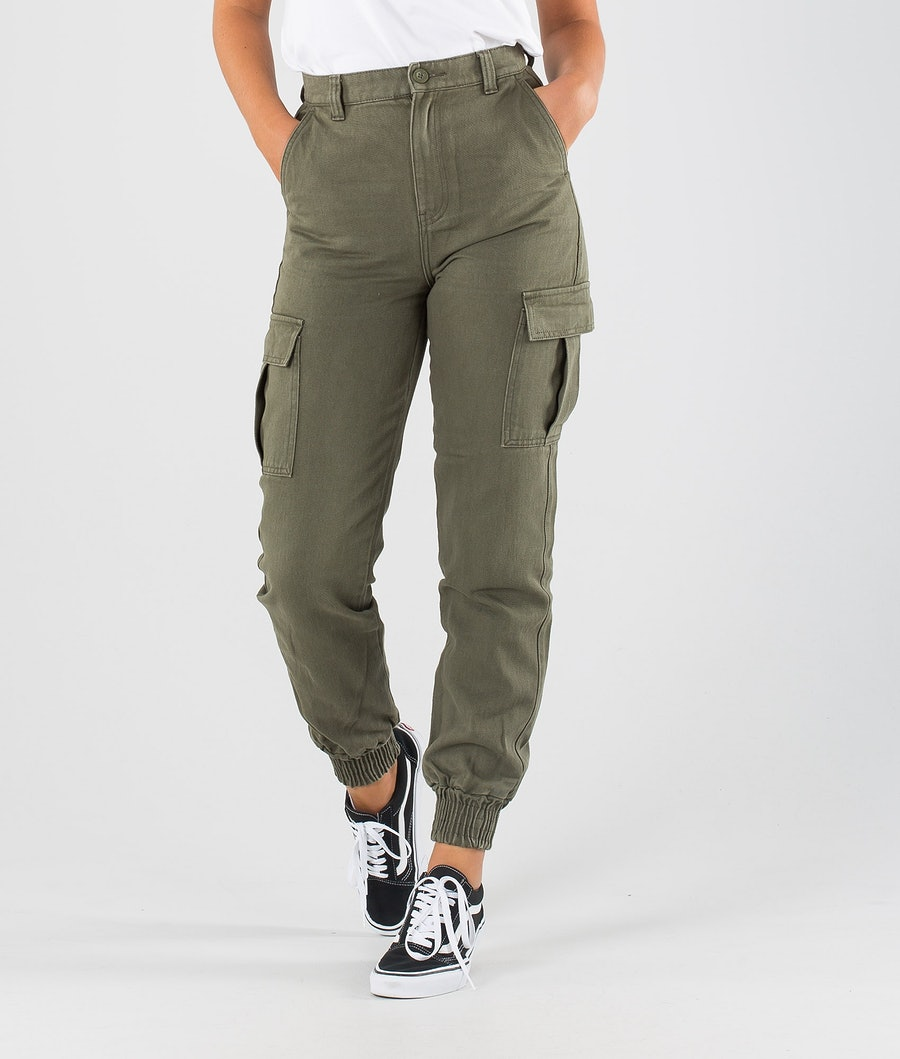 Dr Denim Ruby Cargo Trouser Pantalon Dark Emerald