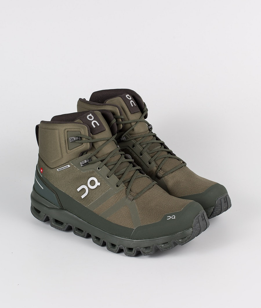 On Shoes Cloudrock Waterproof Sko Jungle/Fir
