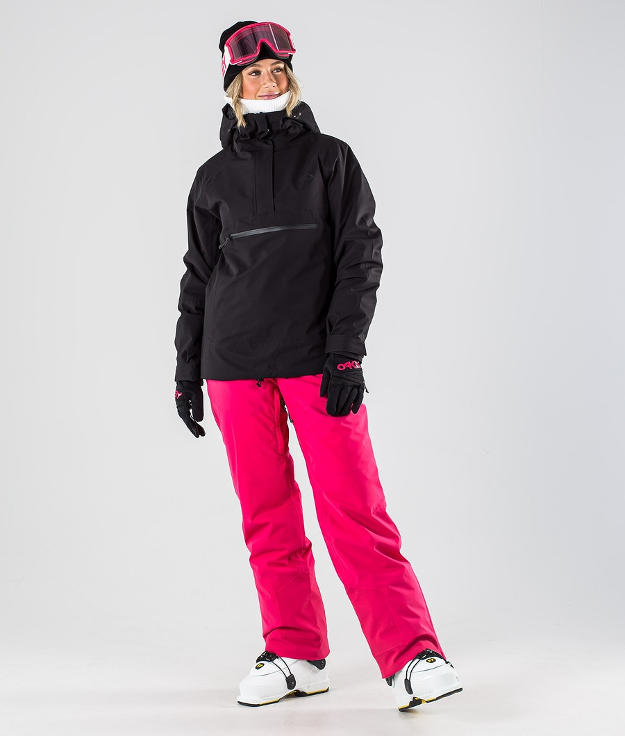 Oakley Iris Insulated Anorak Women's Ski Jacket Blackout