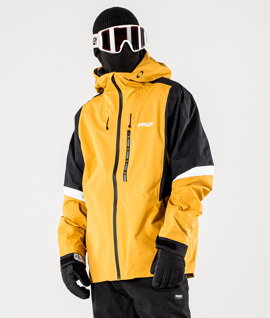 Oakley Gunn Shell Ski Jacket Gold Yellow